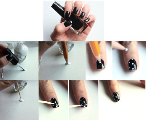 Как красиво покрасить ногти с рисунком в домашних условиях